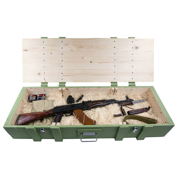 Подарочный набор СХП автомат Калашникова АКМ в деревянном ящике