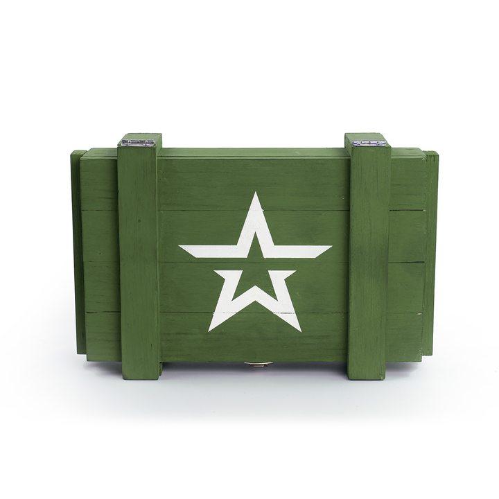 Ящик деревянный армейский со звездой