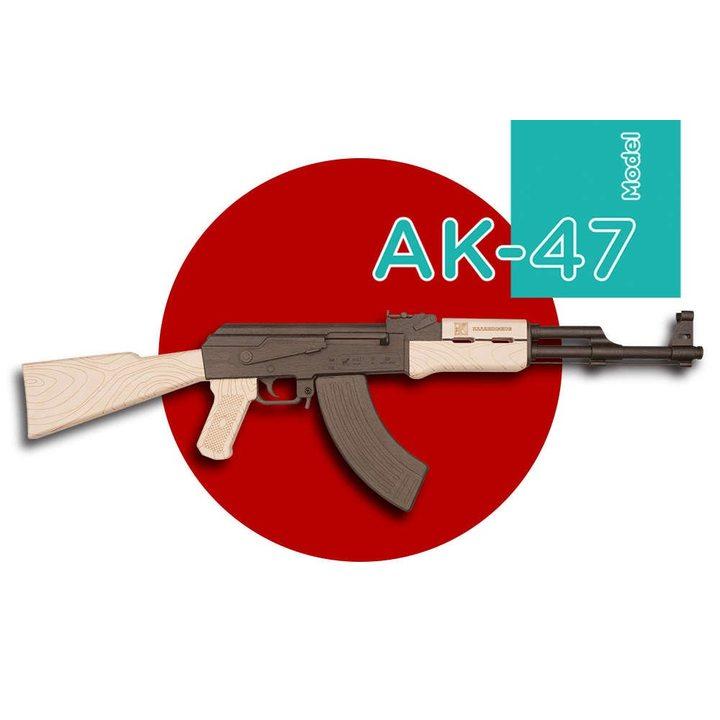 Автомат Калашникова АК-47 из дерева (сборная модель)