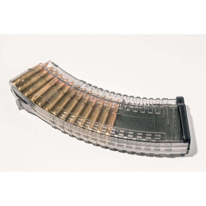 Магазин для ВПО-136 (Pufgun) 30 патронов, прозрачный, 7,62х39