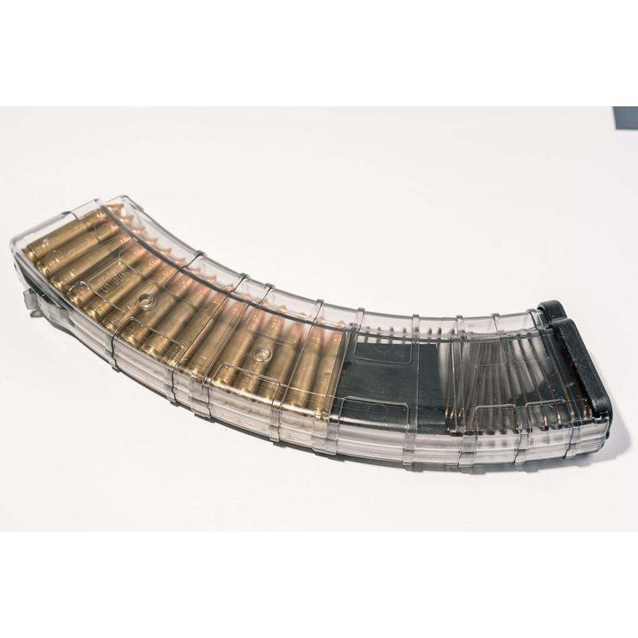 Магазин для ВПО-136 (Pufgun) на 40 патронов, прозрачный, 7,62х39