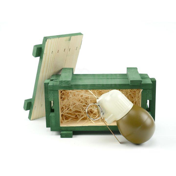 Подарочный набор макет гранаты РГН в деревянном ящике