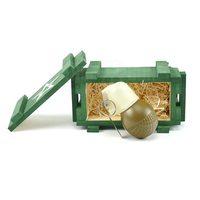 Подарочный набор макет гранаты РГО в деревянном ящике