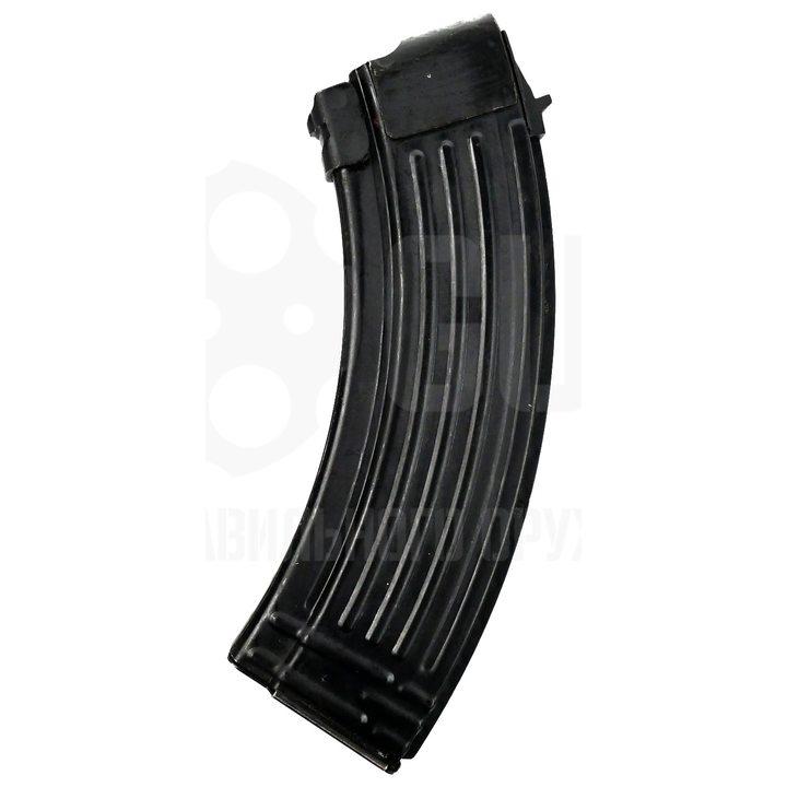 Магазин для АКМ / АК-103 / 47 / ВПО-136 / Сайга (ребристый, черный металл) 7,62 мм