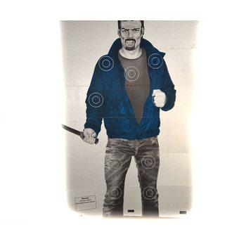 Мишень «Хулиган с ножом» (1x1,5 м), шт