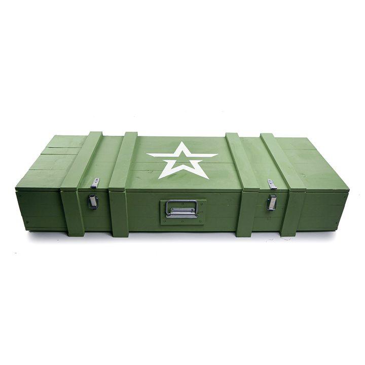 Большой деревянный армейский ящик со звездой