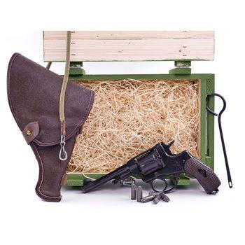 Подарочный набор СХП револьвер Наган в деревянном ящике