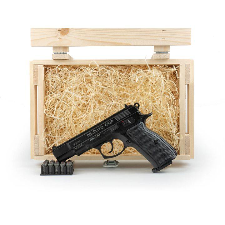 Подарочный набор СХП пистолет Чизет CZ 75 в деревянном  ящике