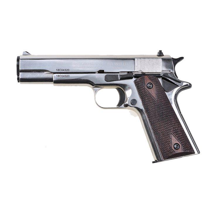 Охолощенный СХП пистолет CLT 1911-СО, хром (Colt M1911A1) 10x24