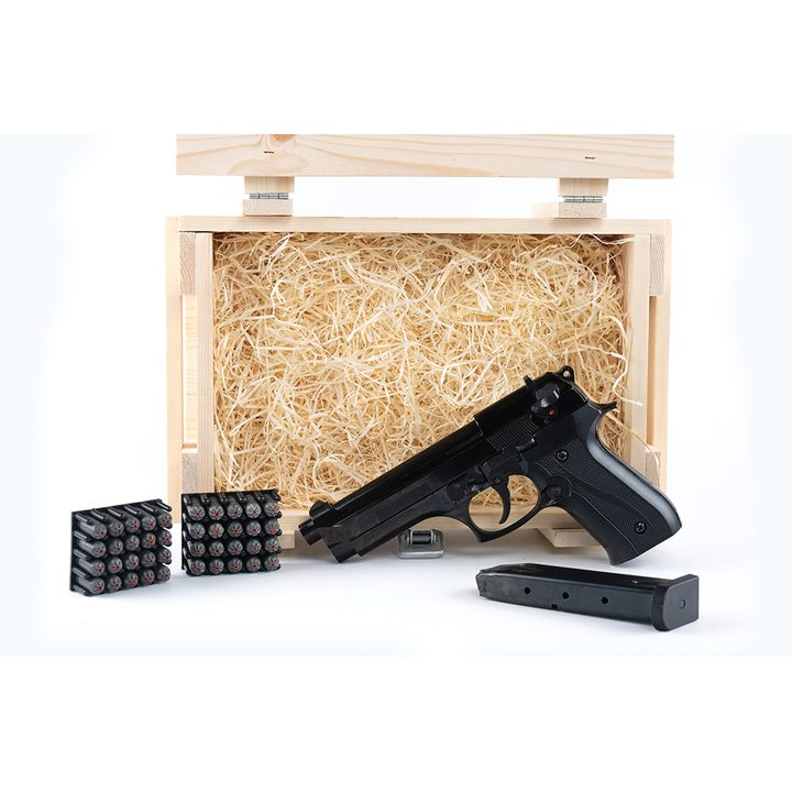 Подарочный набор СХП пистолет Beretta 92 (B92-СО) в деревянном ящике