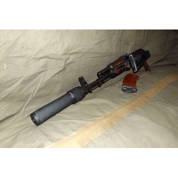 Макет глушителя АТГ (АК-103, АК-74, АК_74М, АКСУ). Резьба М24 на 1.5 правая