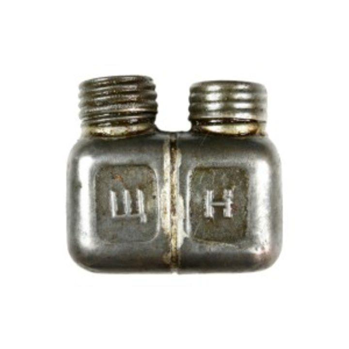 Маслёнка 2-х горловая (квадратная)