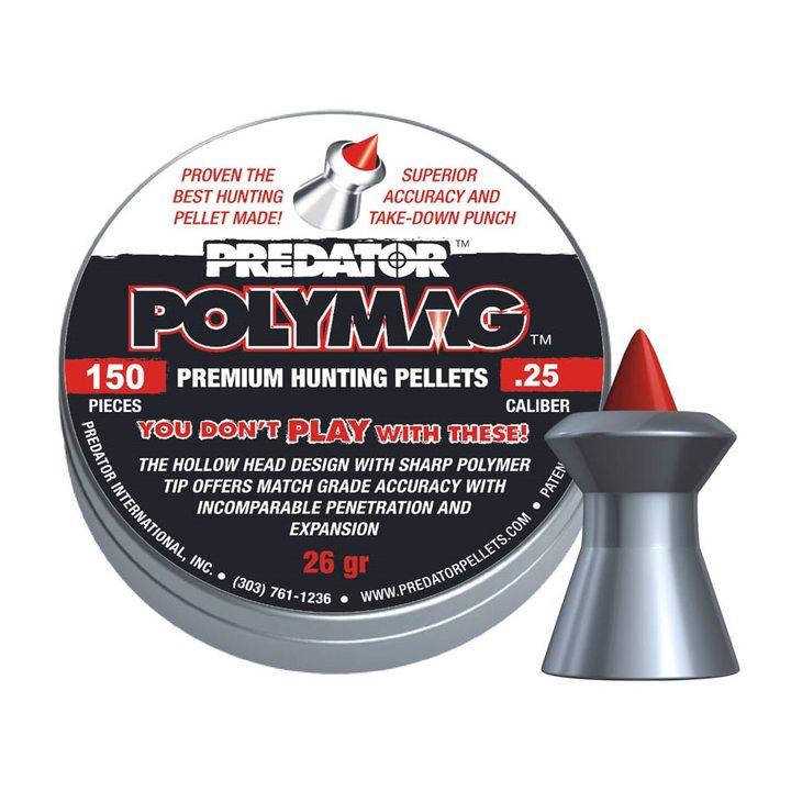 Пули пневматические JSB Predator Polymag 6,35 мм 26 гр (150 шт.)