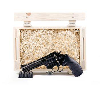 """Подарочный набор СХП револьвер Таурус СО, ствол 4,5"""", в деревянном ящике"""