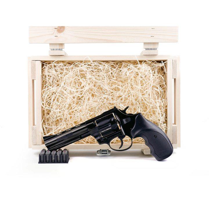 """Подарочный набор СХП револьвер Таурус СО, ствол 4,5"""" в деревянном ящике"""