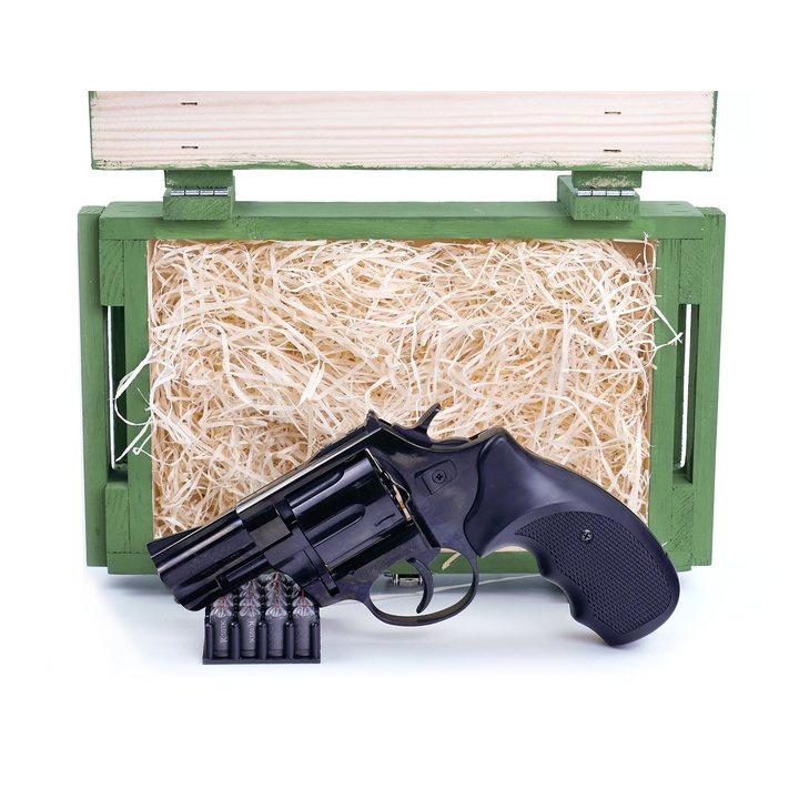 Подарочный набор СХП револьвер Таурусв деревянном  ящике