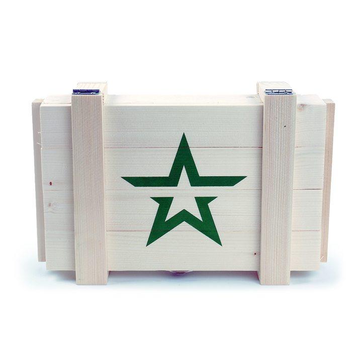 Ящик деревянный армейский со звездой (светлый)