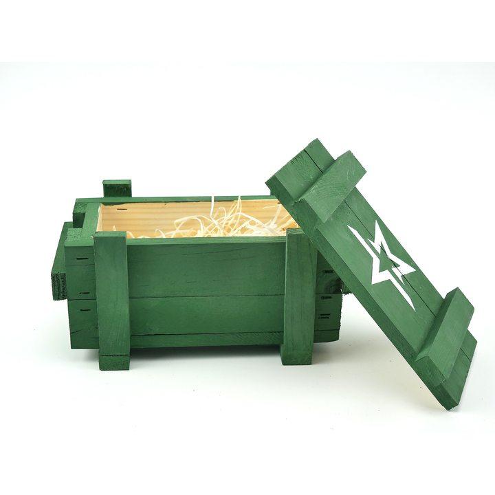 Ящик деревянный армейский со звездой (маленький)